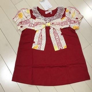 Shirley Temple - 新品 シトラスソーダカットソー(110 cm) 赤