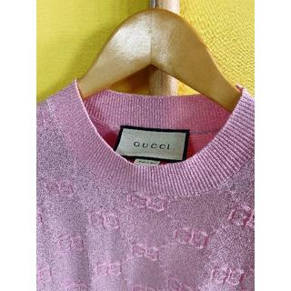 グッチ(Gucci)のGUCCI メタリック ニットトップ(Tシャツ(半袖/袖なし))