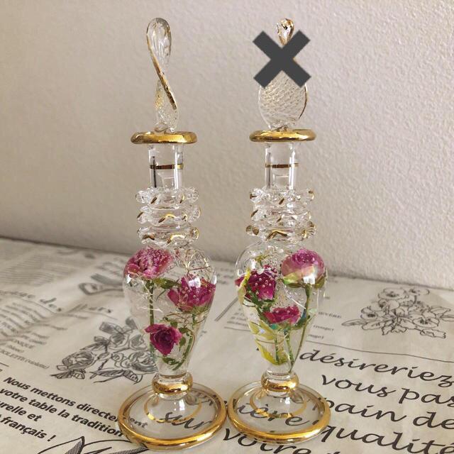 エジプシャングラスS「凜然眇眇」 ハーバリウム エジプト 香水瓶 ハンドメイドのフラワー/ガーデン(その他)の商品写真