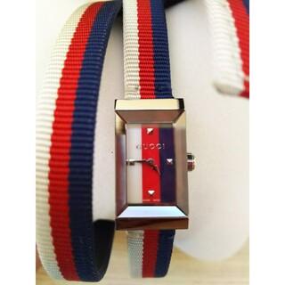 グッチ(Gucci)の新品 箱付き GUCCI 腕時計 Gフレーム(腕時計)