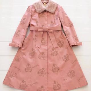 ジェーンマープル(JaneMarple)の美品♡ジェーンマープル ケーキと王冠刺繍コート クリーニング済(ロングコート)