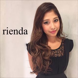 rienda - rienda エンブロフラワーフレア トップス♡リップサービス RESEXXY