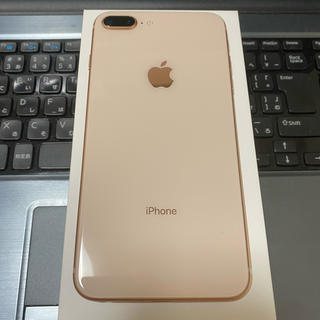 Apple - 美品 iphone 8plus 64gb ゴールド