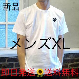 COMME des GARCONS - 入手困難 XLサイズ プレイコムデギャルソン ブラックハート Tシャツ ホワイト