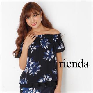 rienda - rienda フラワー柄 オフショル トップス♡リップサービス RESEXXY