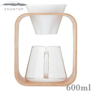 ハリオ(HARIO)の新品 iwaki SNOWTOP コーヒーポット&ドリッパー [Barafu](調理道具/製菓道具)