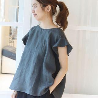 フレームワーク(FRAMeWORK)のフレンチリネン 製品染めブラウス(シャツ/ブラウス(半袖/袖なし))