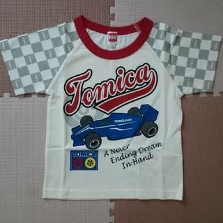 タカラトミー(Takara Tomy)の新品2枚☆ TOMICA トミカ 車 ロゴプリント Tシャツ 半袖 サイズ100(Tシャツ/カットソー)