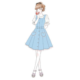LODISPOTTO - ♡ HEARTデニムワンピース ♡