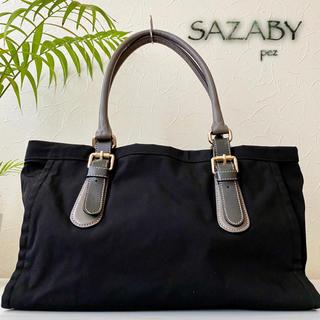 サザビー(SAZABY)の極美品 SAZABY サザビー 約2.9万 大容量 レザートートバッグ 鞄(トートバッグ)