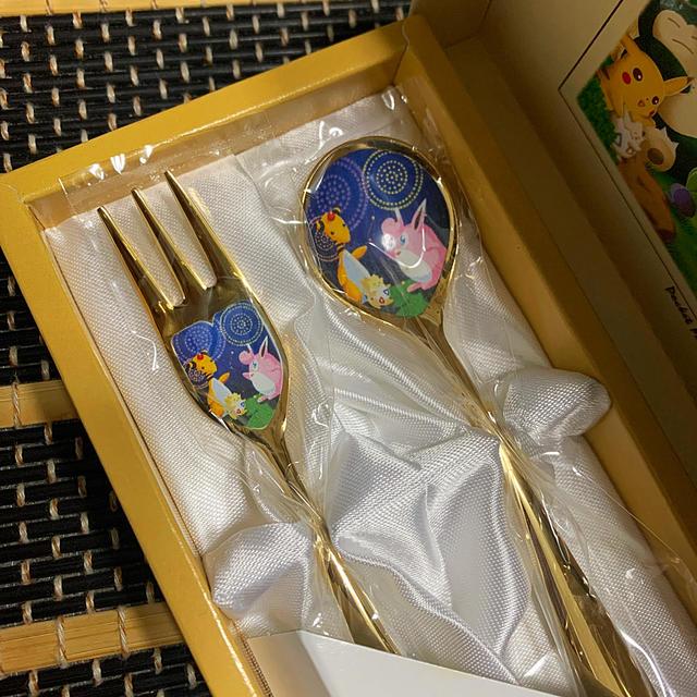 ポケモン(ポケモン)のポケモン ♥️ スプーン フォーク セット ♥️ 四季のポケモン エンタメ/ホビーのおもちゃ/ぬいぐるみ(キャラクターグッズ)の商品写真