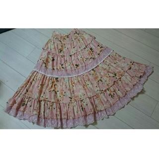 PINK HOUSE - ピンクハウス イングリッシュローズ 綿ローン スカート