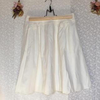 エフデ(ef-de)の感謝sale❤️2062❤️ef-de②❤️上品&素敵なフレアスカート 白(ひざ丈スカート)