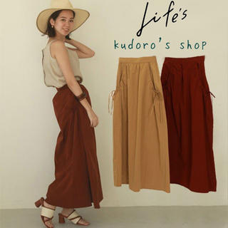 トゥデイフル(TODAYFUL)のTODAYFUL■新品未使用■ Nylon Gather Skirt(ロングスカート)
