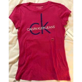 カルバンクライン(Calvin Klein)のレア!カルバンクライン CKロゴ 半袖Tシャツ ピンクXS(Tシャツ(半袖/袖なし))
