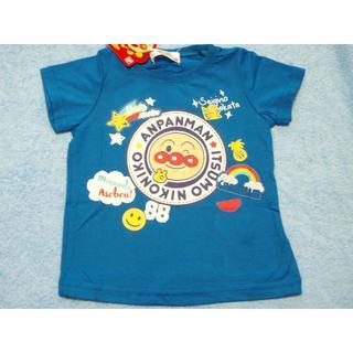 アンパンマン - 新品 90cm アンパンマン ワッペン柄半袖Tシャツ ブルー