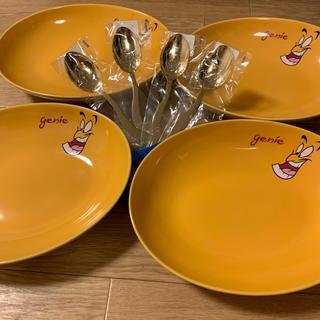 Disney - 《新品未使用》ジーニー カレー皿 4セット スプーン