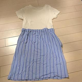 ユニクロ(UNIQLO)のユニクロ 半袖ワンピース サイズ130 未着用 こども服(ワンピース)