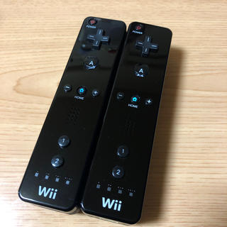 Wii - 任天堂Wiiリモコン ブラック×ブラック