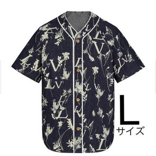 ルイヴィトン(LOUIS VUITTON)のLUIS VUITTON リーフデニムベースボールシャツ L(シャツ)