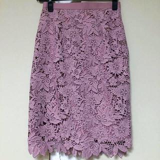 ジャスグリッティー(JUSGLITTY)のジャスグリッティーのレースタイトスカート(ひざ丈スカート)