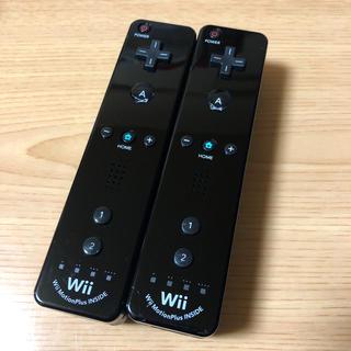 Wii - 任天堂Wiiリモコンプラス ブラック×ブラック