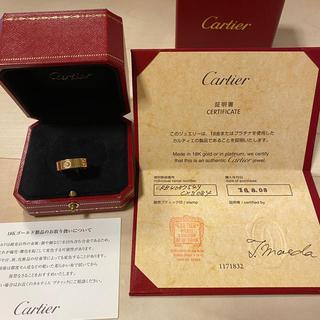 Cartier - 【美品】Cartier カルティエ ラブリング 3Pダイヤ