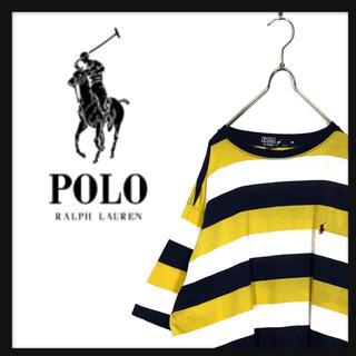 POLO RALPH LAUREN - 90s ヴィンテージ ポロ ラルフローレン USA製 ボーダー Tシャツ 刺繍