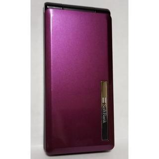 パナソニック(Panasonic)のSoftbank 840P パープル ガラケー(携帯電話本体)