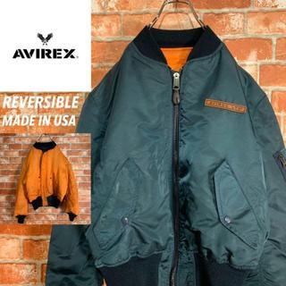 アヴィレックス(AVIREX)の【USA製】アヴィレックス リバーシブル 中綿 MA-1 フライトジャケット.(フライトジャケット)