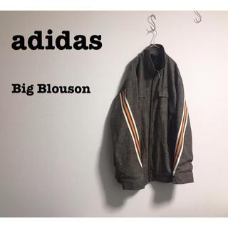 adidas - 古着 adidas  アディダス ライン ビッグブルゾン ユニセックス