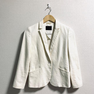 TOMORROWLAND - トゥモローランドコレクション テーラードジャケット 白 ホワイト 夏 リネン