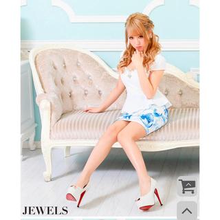 JEWELS - ♡ 胸元キラキラビジュー ペプラム  タイトドレス ✩.*˚