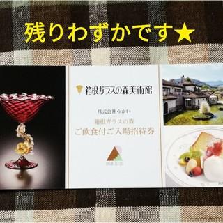 箱根ガラスの森美術館ご飲食付入場券 2枚(美術館/博物館)