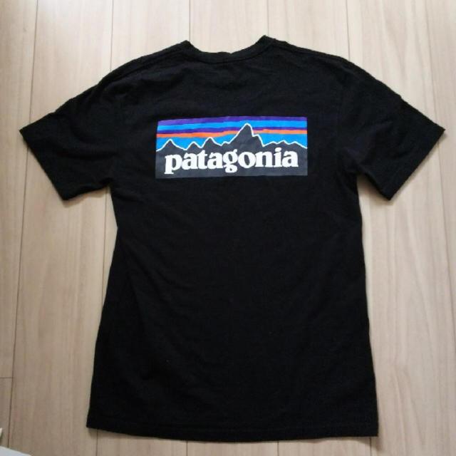patagonia(パタゴニア)のPatagoniaブラックXS メンズのトップス(Tシャツ/カットソー(半袖/袖なし))の商品写真
