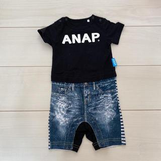 アナップキッズ(ANAP Kids)のANAPロンパース 60cm(ロンパース)