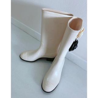 シャネル(CHANEL)のシャネル レインブーツ 36(レインブーツ/長靴)