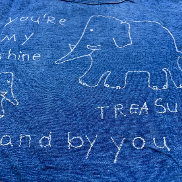DENIM DUNGAREE(デニムダンガリー)のデニムダンガリー   新品 半袖T ブルー 140 キッズ/ベビー/マタニティのキッズ服男の子用(90cm~)(Tシャツ/カットソー)の商品写真