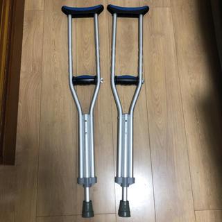 ★アルミ製 松葉杖 骨折 怪我 中学生 子供用 女性(その他)