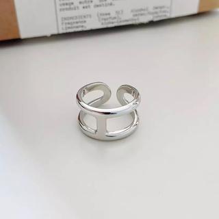 TODAYFUL - Silver925_ H motif ring