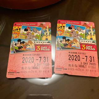 ディズニー(Disney)のリゾートライン 3日間 2枚(鉄道乗車券)