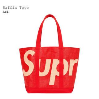 Supreme - 新品 Supreme Raffia Toteトートバッグ Black レッド