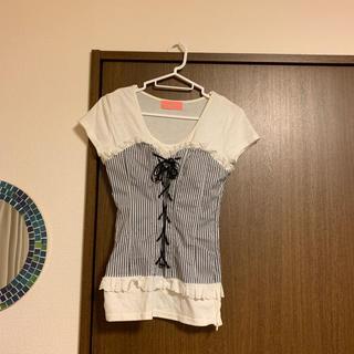 ハニーミーハニー(Honey mi Honey)のコルセットTシャツ(Tシャツ(半袖/袖なし))
