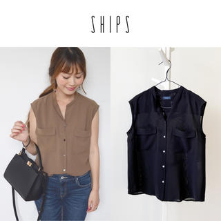 SHIPS - 美品 SHIPS ダブルポケットブラウス