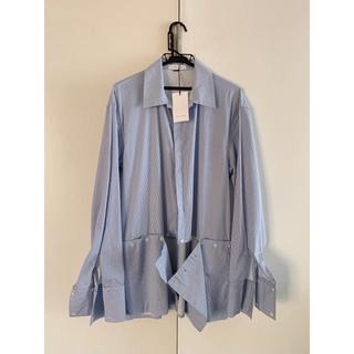 JOHN LAWRENCE SULLIVAN - DELADA SS18 ボタンスリットシャツ (BLUE)