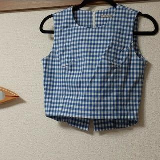 アウラアイラ(AULA AILA)のアウラアイラ ギンガムチェックセットアップ美品(ひざ丈スカート)