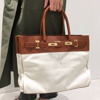 L'Appartement DEUXIEME CLASSE - SITA PARANTICA】Cambus×Leather Toto bag(L
