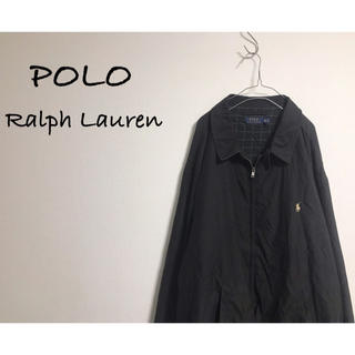 POLO RALPH LAUREN - 古着 POLO Ralph Lauren ブルゾン ビッグシルエット ブラック