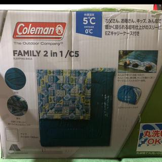 コールマン(Coleman)のColeman 寝袋 シェラフ ファミリー 2in1 シュラフ(寝袋/寝具)