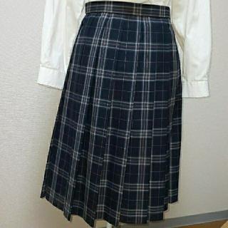 制服「夏用スカート グレー×ピンク」 中古品